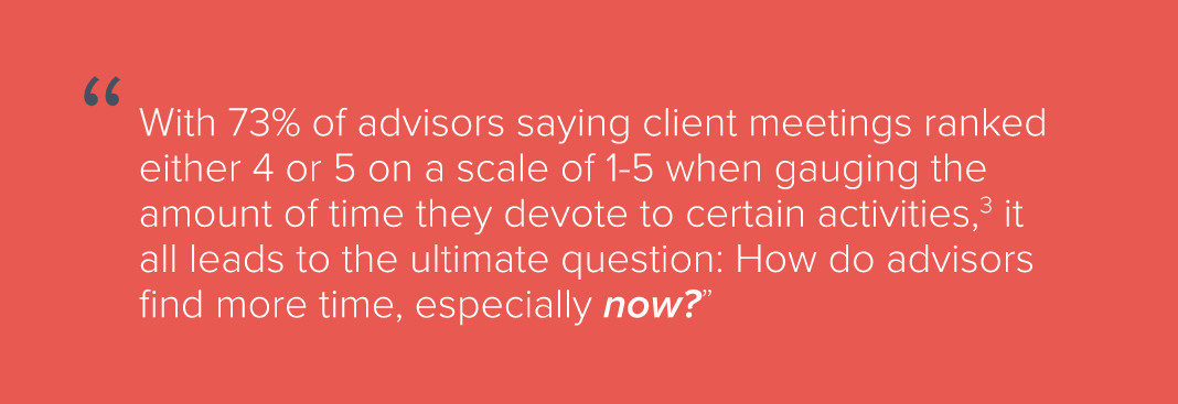 how do advisors find more time